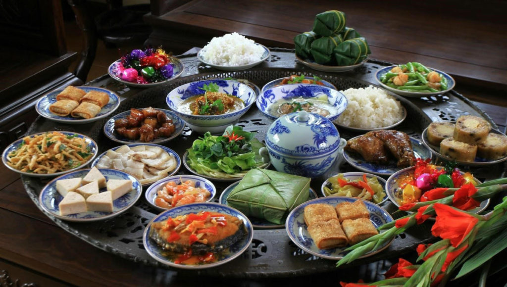 Traditional Vietnamese Lunch