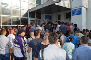 aglomeratie pentru pasaport