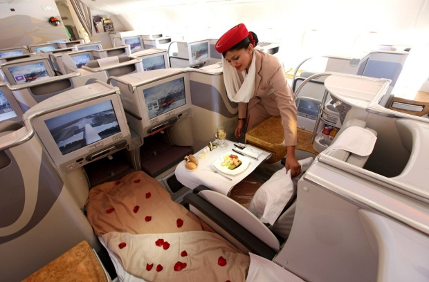 business class - credits to Emirates Airlines